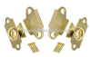 CHEVAL MIRROR 'BRA-KON' MOVEMENTS SWIVEL HINGE DRESSING TABLE. BRASS. 1-100 pairs W/Screws